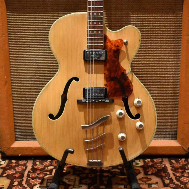 Vintage 1968 Hofner Thinline President Blonde Electric Guitar