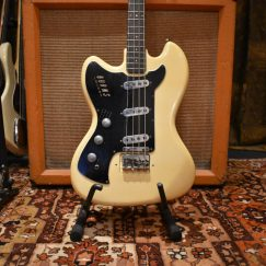 Vintage 1964 Burns Vista Sonic White Left Handed Bass Guitar