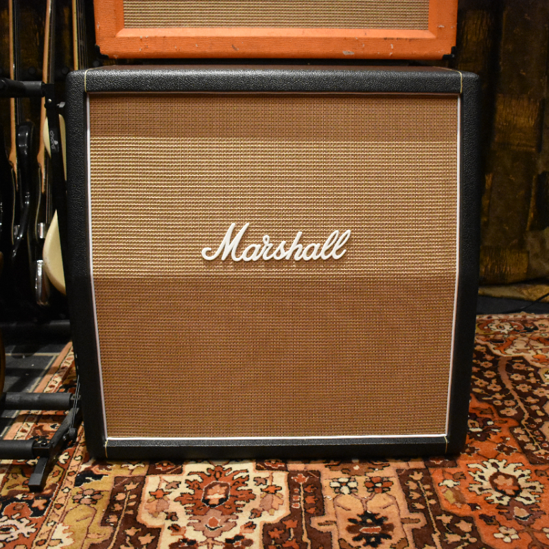 Vintage 1968 Marshall JMP 4x12 Basketweave Greenbacks Cabinet