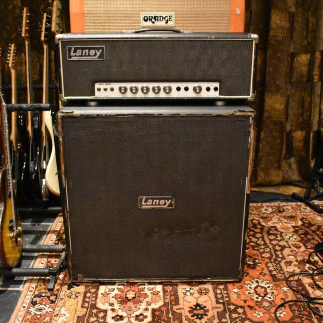 Vintage 1970s Laney Sound 100w Supergroup Amplifier Head Cabinet