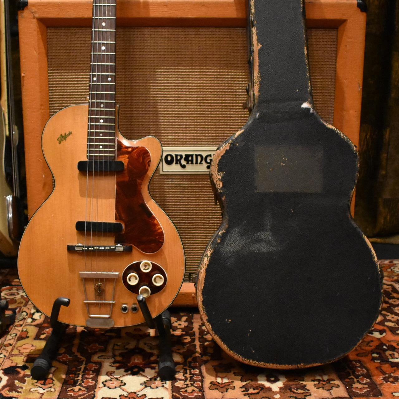 Vintage 1957 Hofner Club 50 Blonde Hollow Guitar Original Case