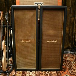 Vintage 1970 Marshall 2x12 Basketweave Columns Amplifier Cabinets