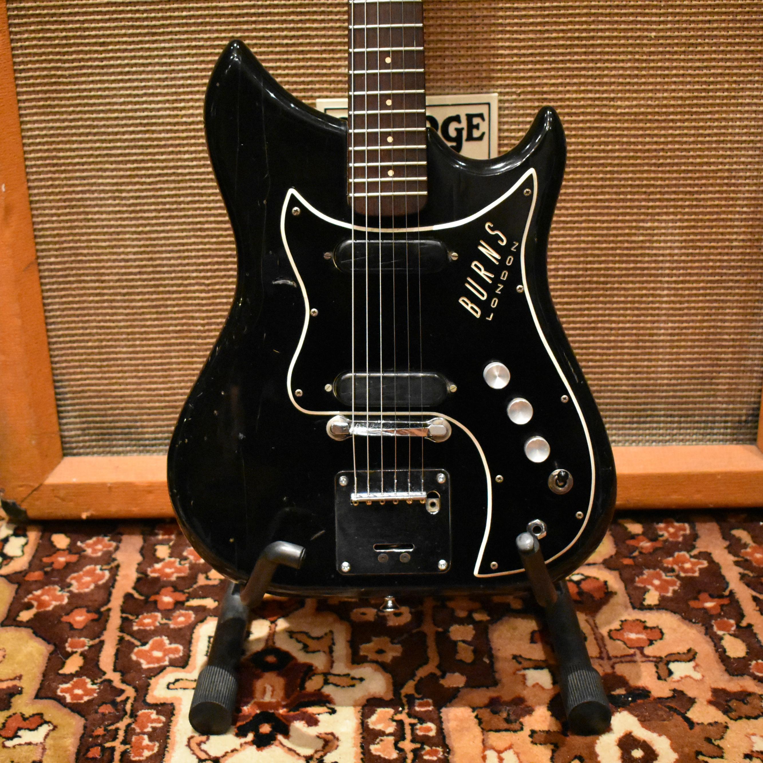 Vintage 1964 Burns Nu Sonic Baldwin Ampeg Guitar Original Case