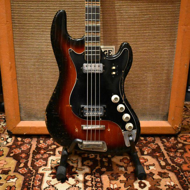 Vintage 1963 Hofner Super Solid 185 Sunburst Bass Guitar Cased