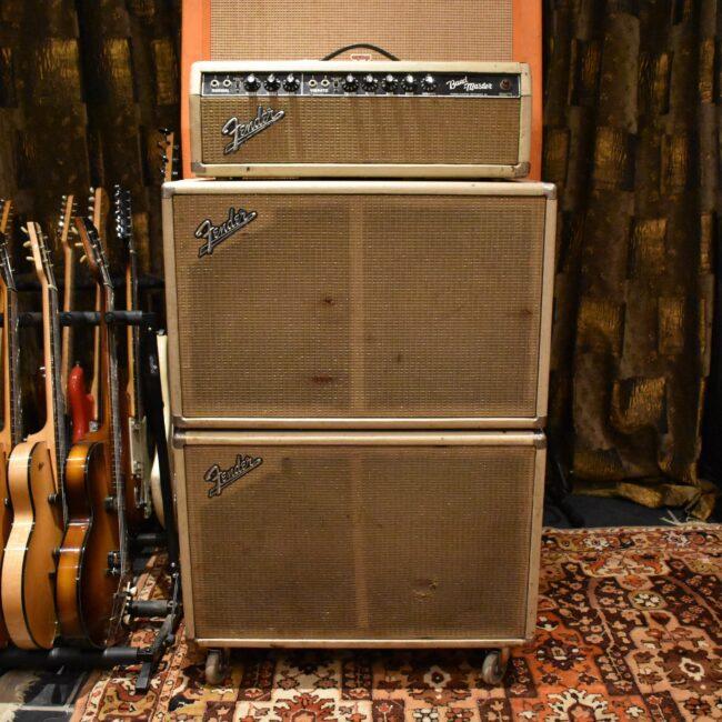 Vintage 1964 Fender Bandmaster Blackface AB763 Dual 2x12 Guitar Amp