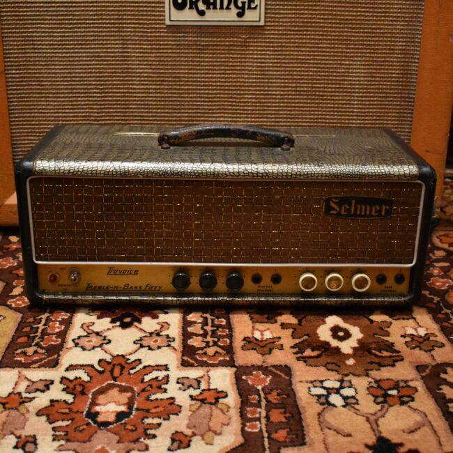 Vintage 1964 Selmer Treble N Bass 50 Truvoice Crocodile Amplifier