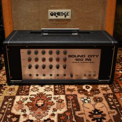 Vintage 1970s Sound City 120 PA Valve Amplifier Original Cover
