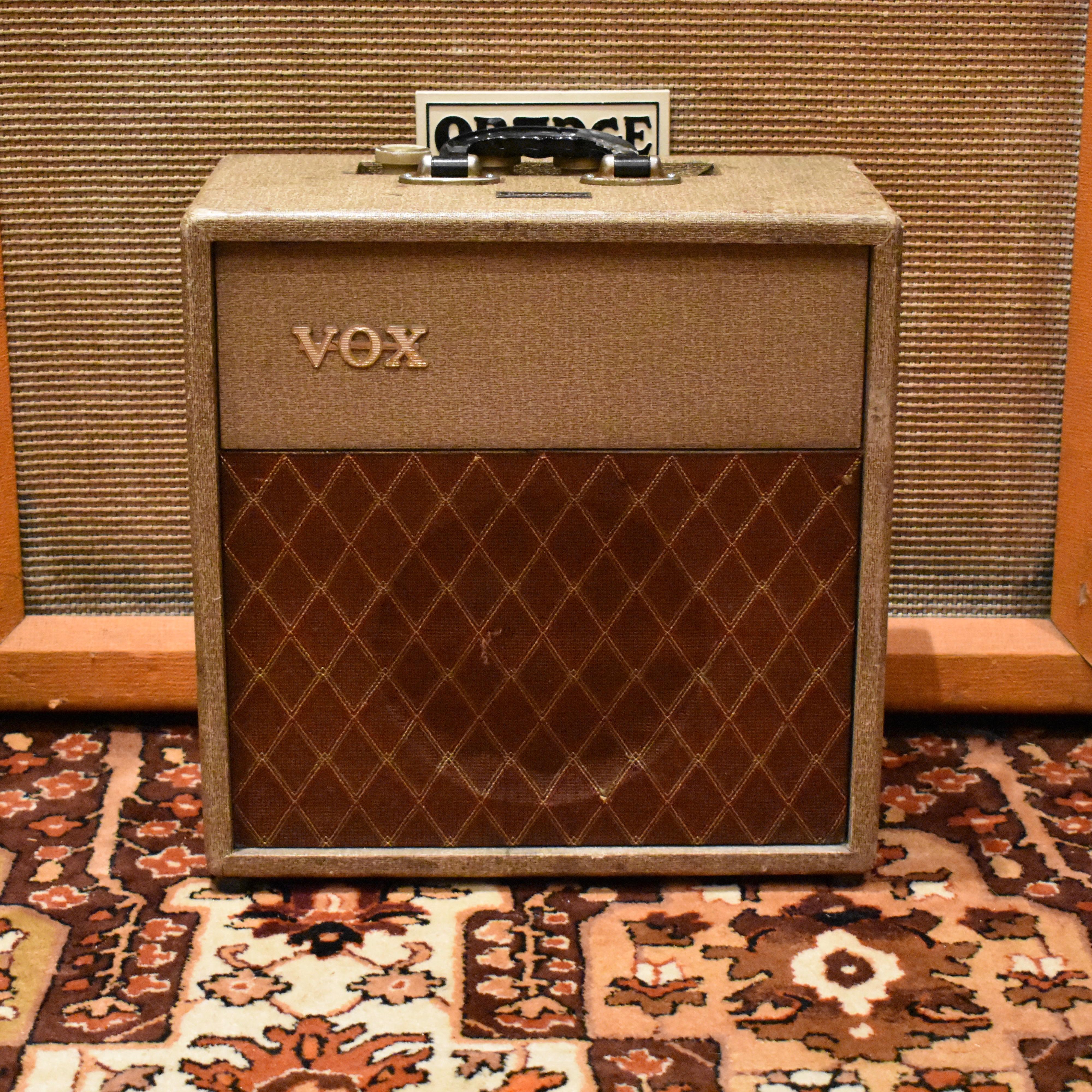 Vintage 1960 Vox AC2 Fawn Beige JMI Combo Valve Amplifier
