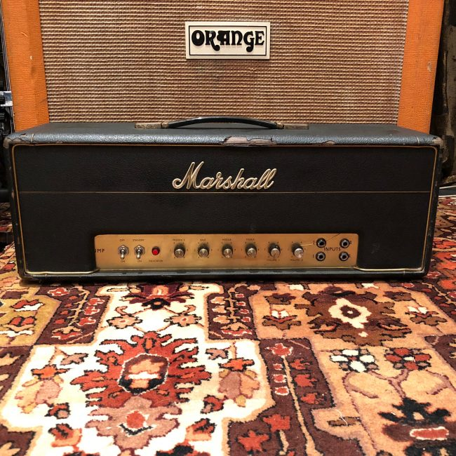 Vintage 1968 Marshall JMP 50 Watt Plexi Valve Amplifier Head