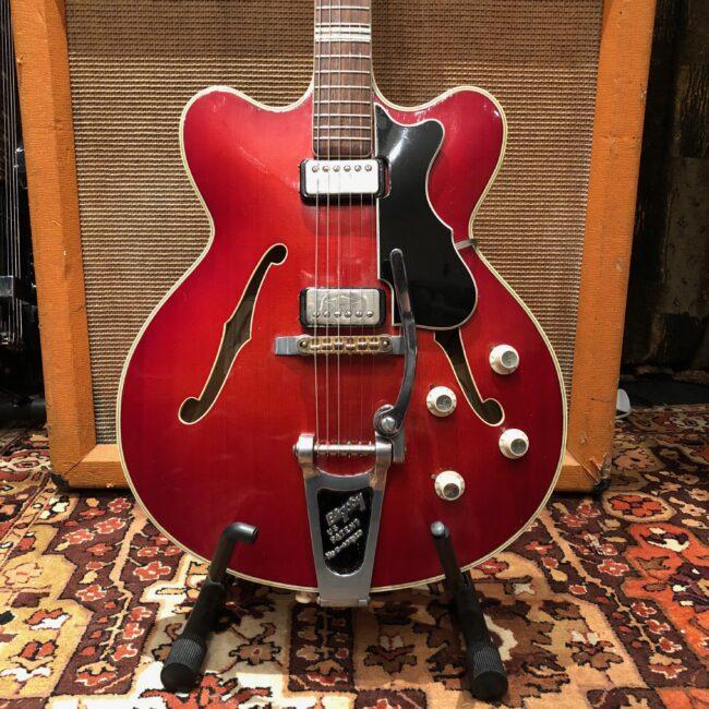 Vintage 1962 Hofner Verithin Bigsby Cherry Red Electric Guitar