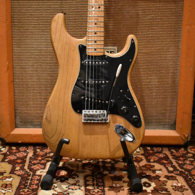 Vintage 1977 Fender Stratocaster Refin Natural Maple Electric Guitar