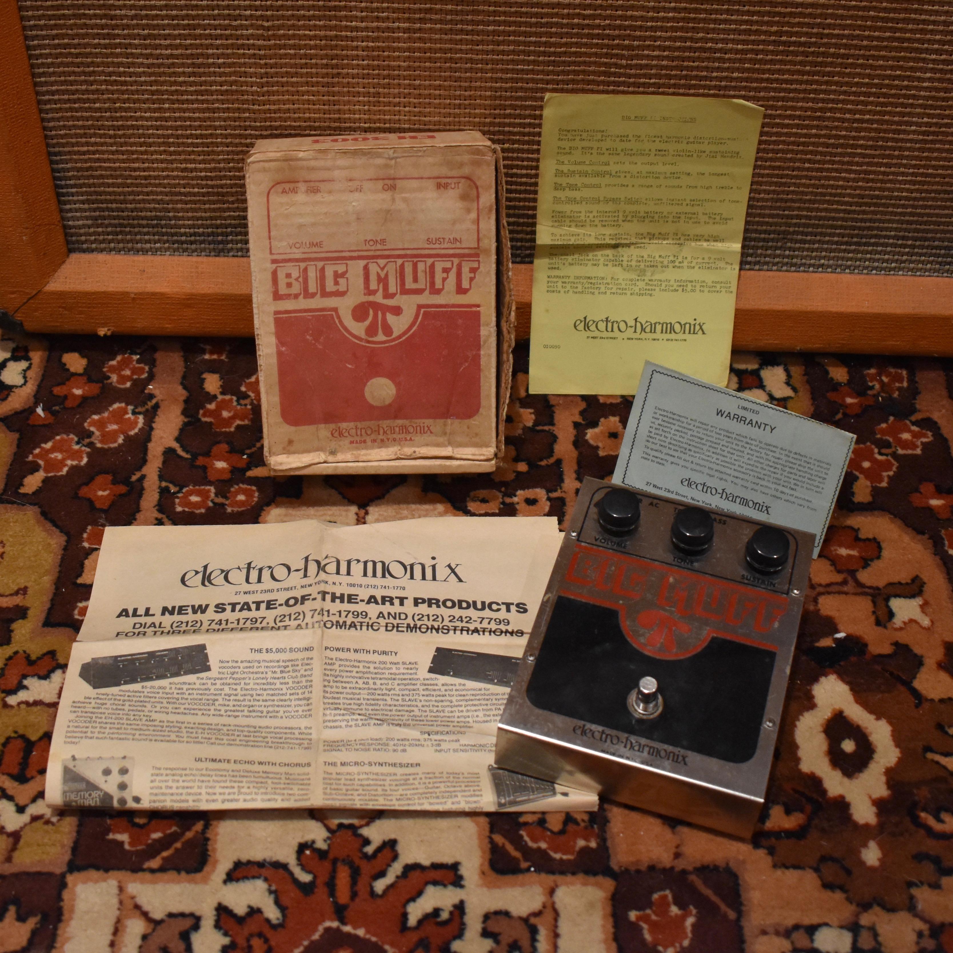 Vintage 1979 Electro Harmonix Big Muff Pi V5 Pedal Box