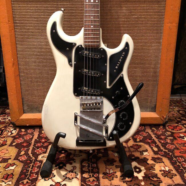 Vintage 1960s Baldwin Hank Marvin Burns Signature White Guitar