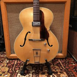 Vintage 1959 Hofner Senator Blonde Electric Guitar 4.9lbs Hard Case