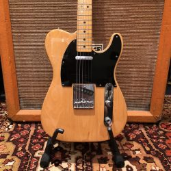 Vintage 1977 Fender Telecaster Natural Maple Electric Guitar Case 8.6lbs