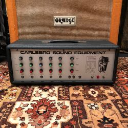 Vintage 1970s Carlsbro 60PA 60w Valve Guitar Amplifier Head
