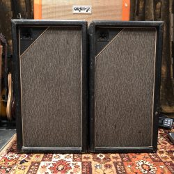 Vintage 1967 Marshall Pinstripe Pair 3x12 PA Guitar Cabinets