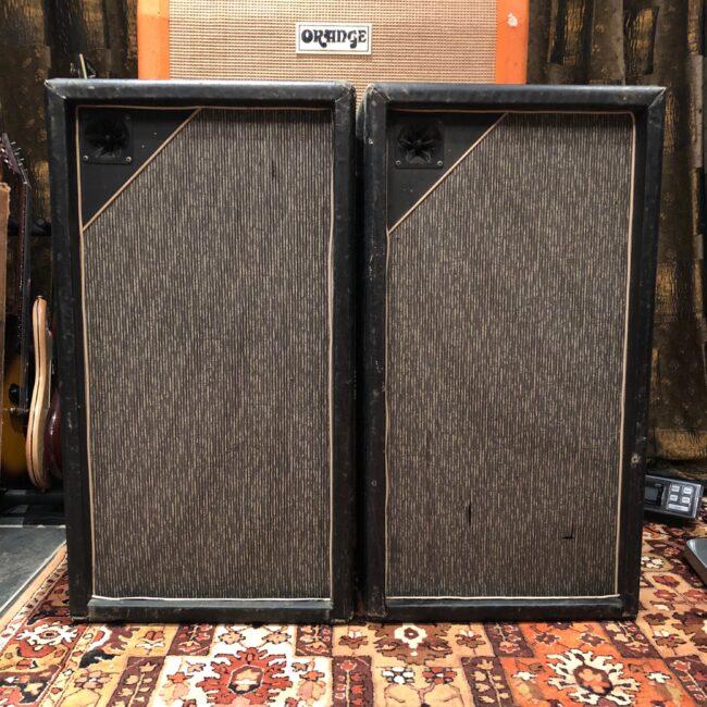 Vintage 1967 Marshall Pinstripe Pair 3x12 PA Guitar Cabinets