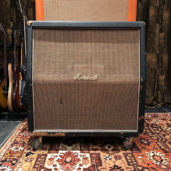 Vintage 1968 Marshall Basketweave 4x12 Guitar Cabinet Celestion G12H
