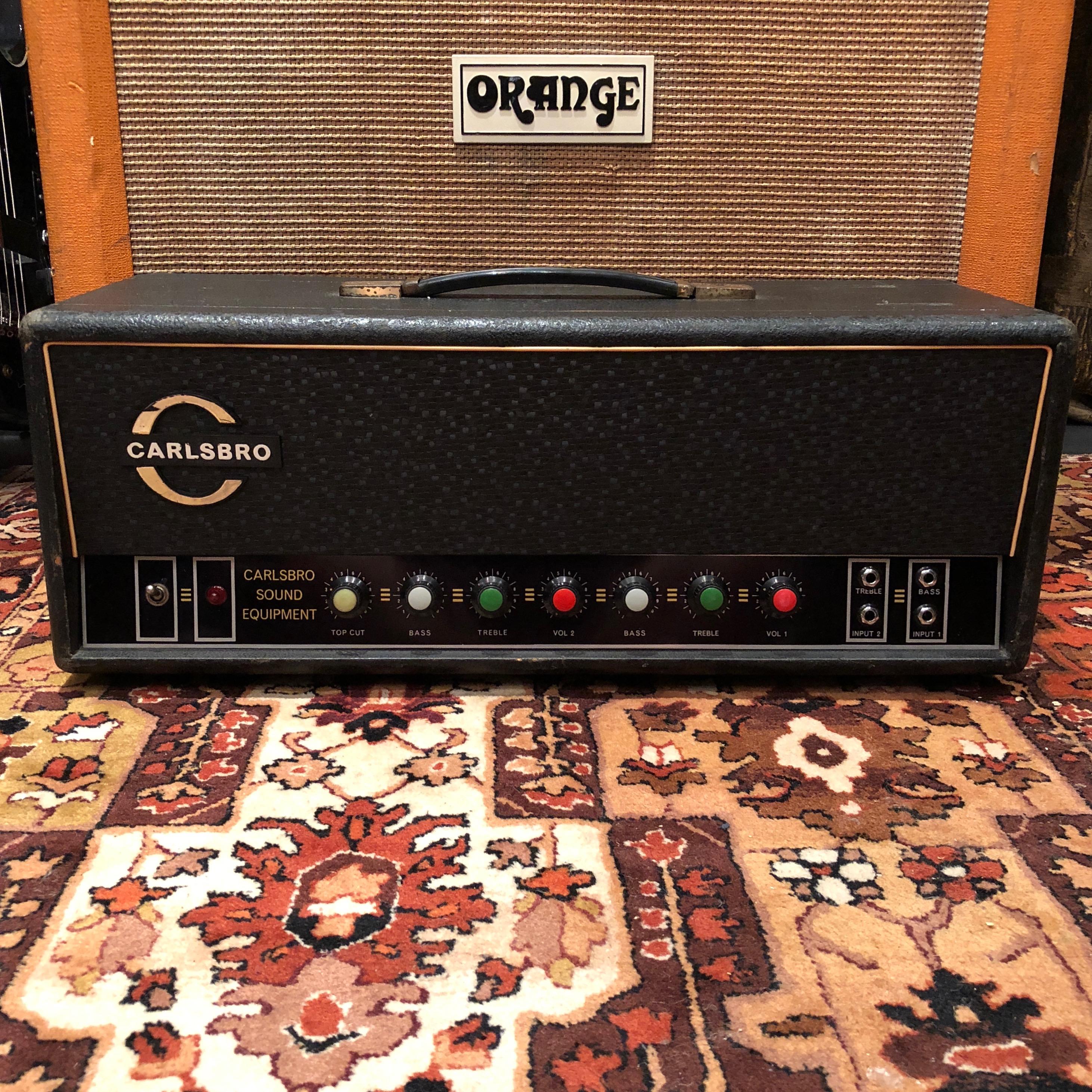 Vintage 1960s Carlsbro 60w El34 Cs60tc Valve Guitar Amplifier Bass