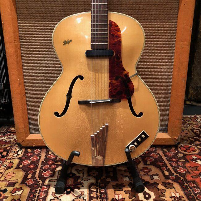 Vintage 1960 Hofner Senator Blonde Natural Electric Guitar Hard Case