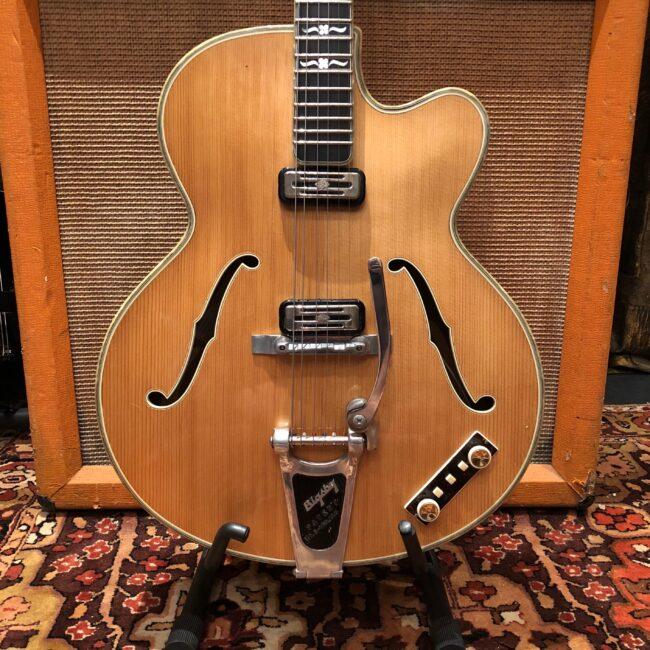 Vintage 1960 Hofner Committee Blonde Bigsby Electric Guitar OHSC