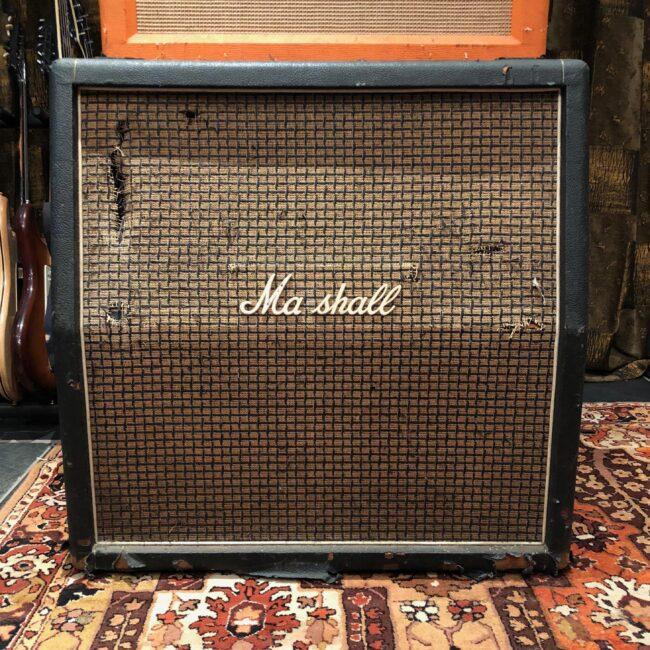 Vintage 1971 Marshall Large Check 4x12 Slant Guitar Cabinet T1221