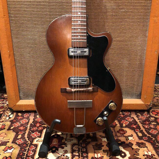 Vintage 1960 Hofner Club 50 Brunette Sunburst Electric Guitar OHSC