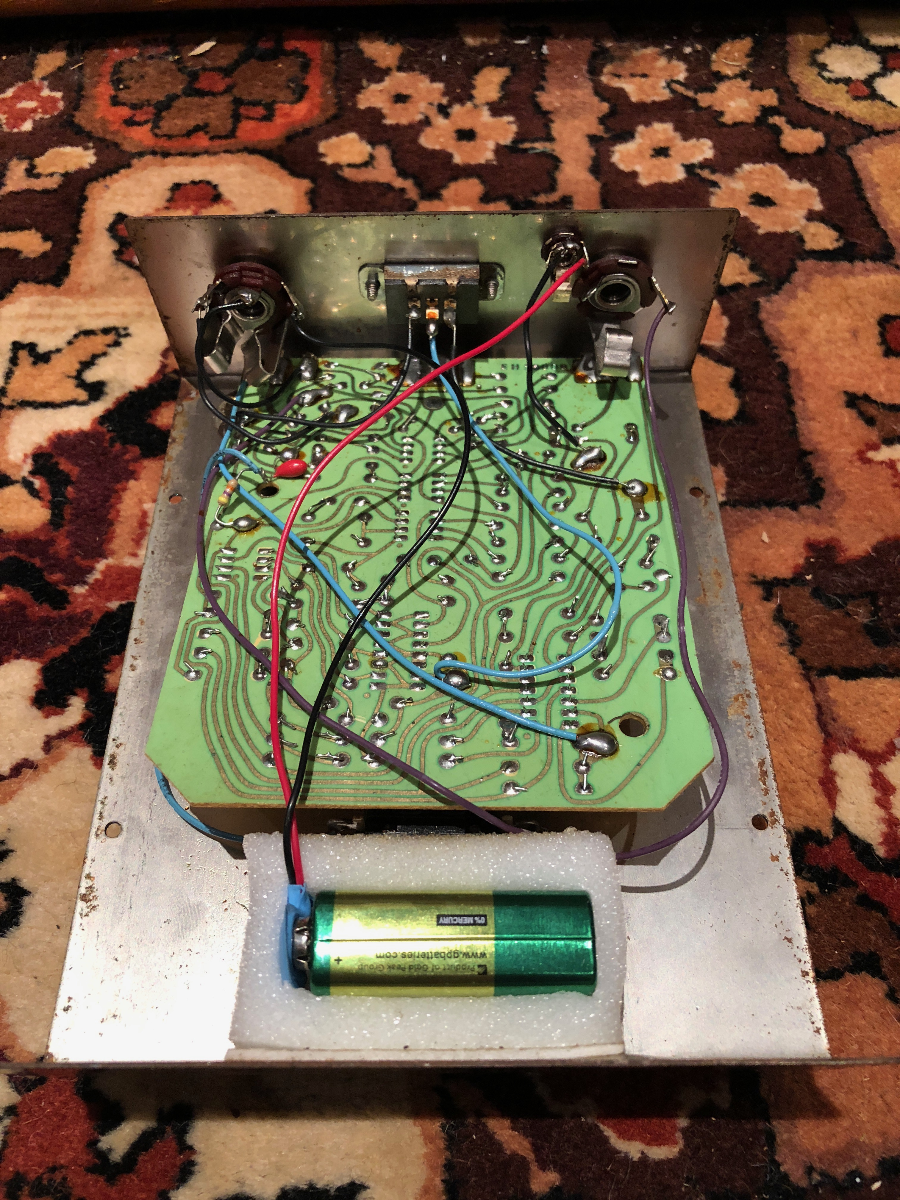 vintage 1970s electro harmonix bad stone phase shifter phaser pedal. Black Bedroom Furniture Sets. Home Design Ideas
