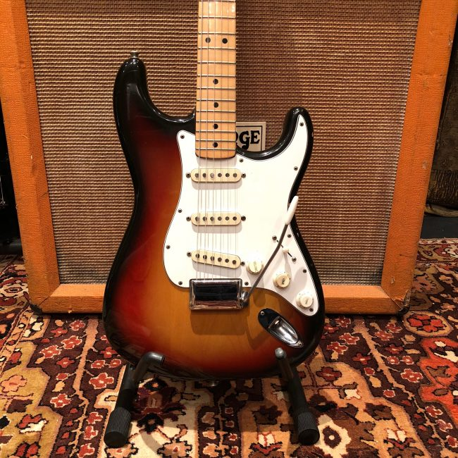 Vintage 1974 Fender Stratocaster USA Sunburst Maple Electric Guitar