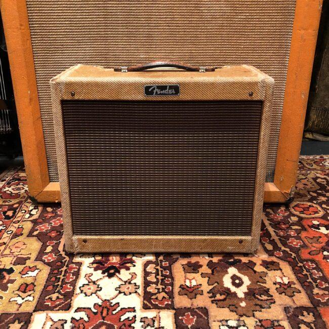 Vintage 1960 1961 Fender Princeton Tweed 5F2A Guitar Amplifier