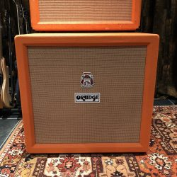 Vintage 1972 Orange 4x12 Guitar Cabinet Celestion Greenback G12H T1217