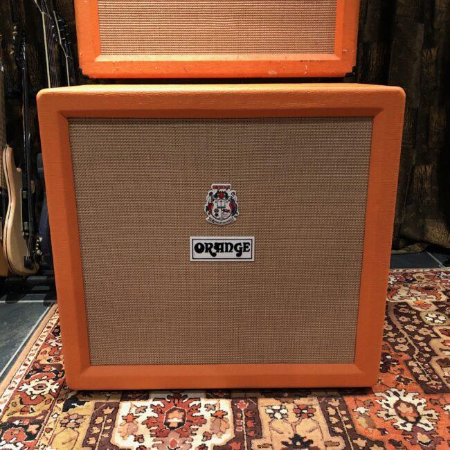 Vintage 1972 Orange 4x12 Guitar Cabinet Celestion Greenback G12H T1217