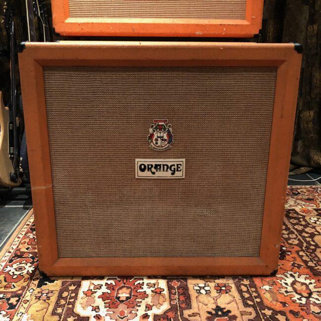 Vintage 1973 Orange 4x12 Guitar Cabinet Celestion Greenback G12H T1217
