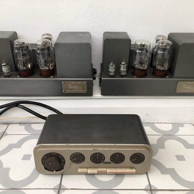 Vintage 1960s Quad 22 Control Unit and Quad II Amplifiers