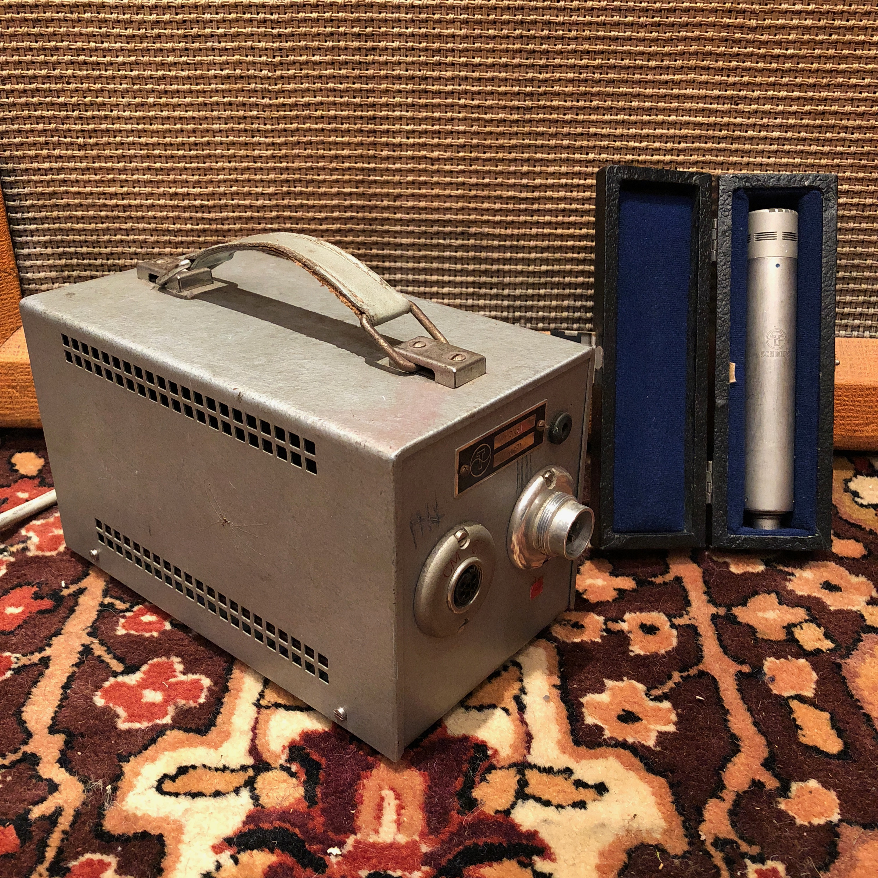 Vintage Schoeps CM640 Valve Cardioid Condenser Microphone CN61 Cables