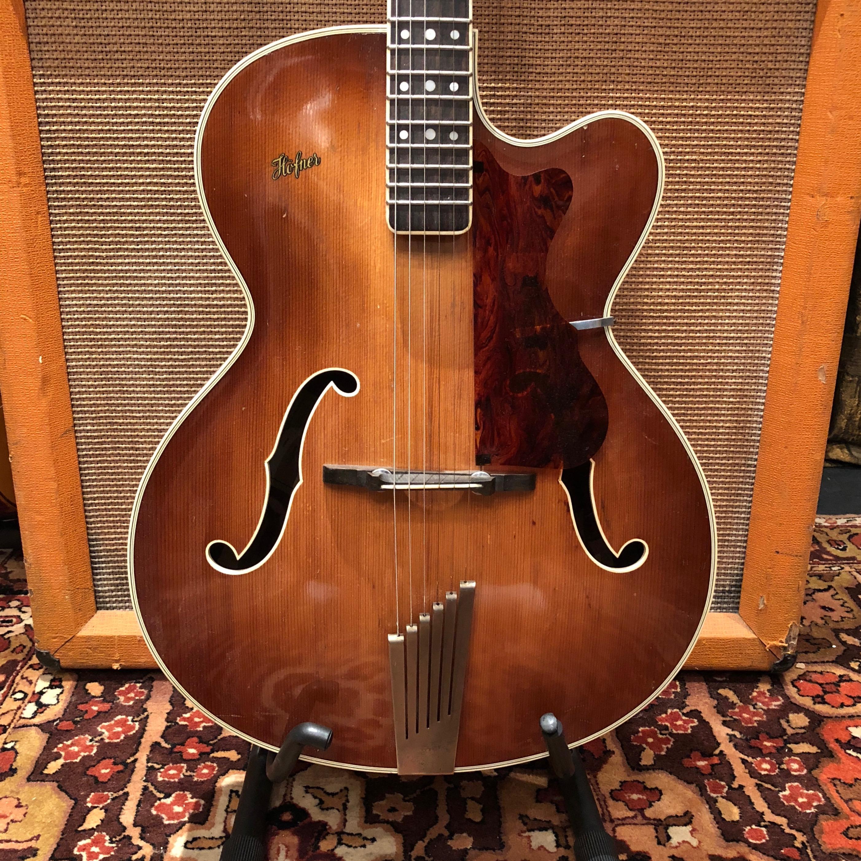Vintage 1960 Hofner President Acoustic Archtop Brunette Rosewood Hollow Guitar