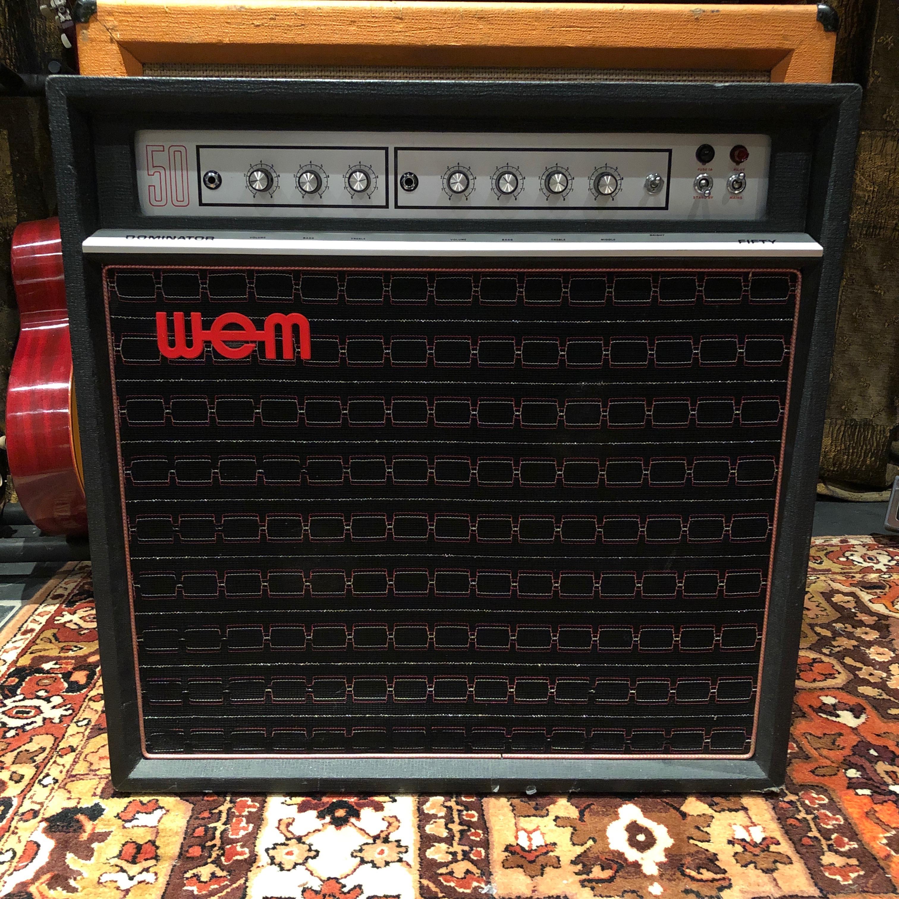 Vintage 1970s WEM Watkins Dominator Fifty 50 Goodmans Amplifier