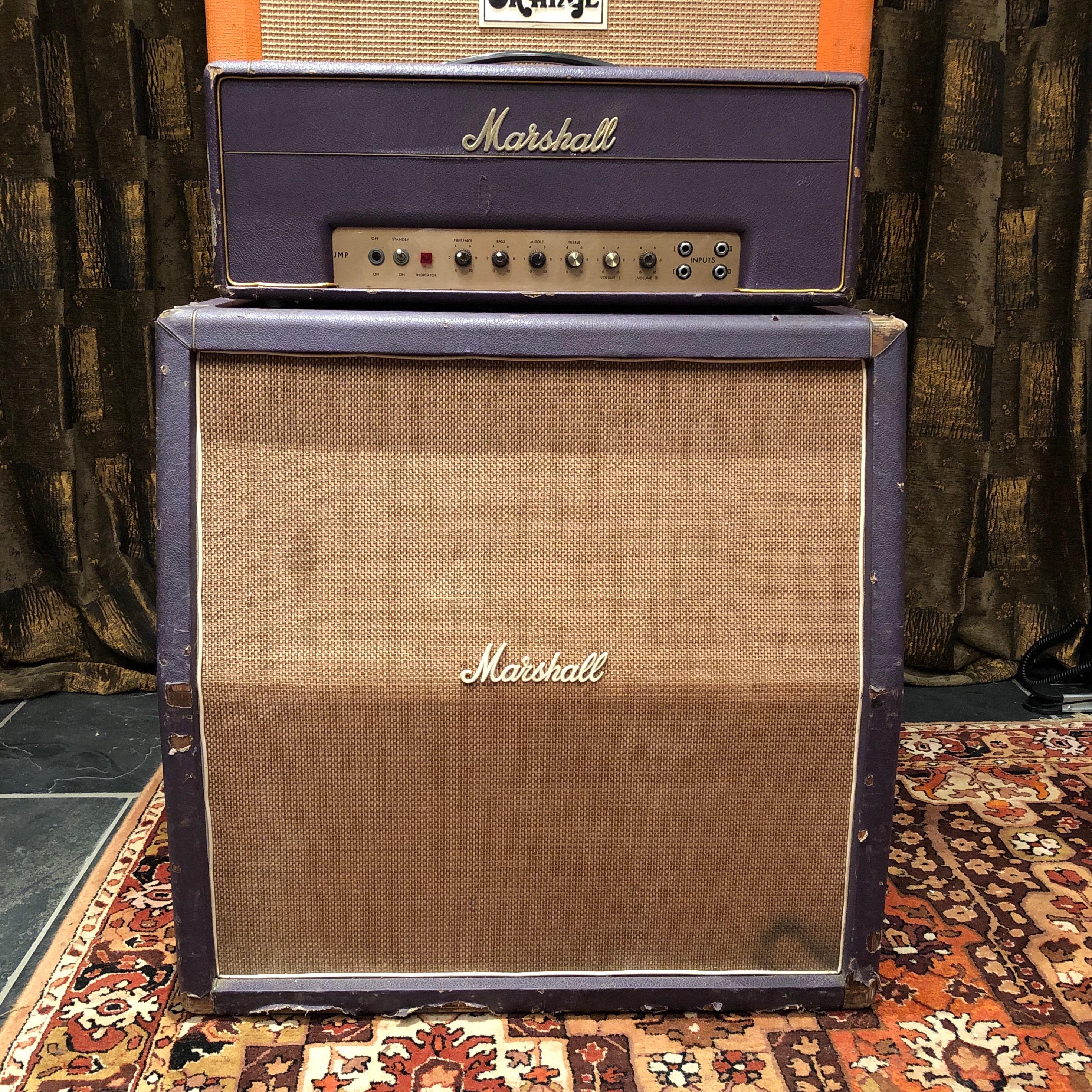 Vintage 1968 Marshall JMP 50 Plexi Custom Purple Stack Amplifier