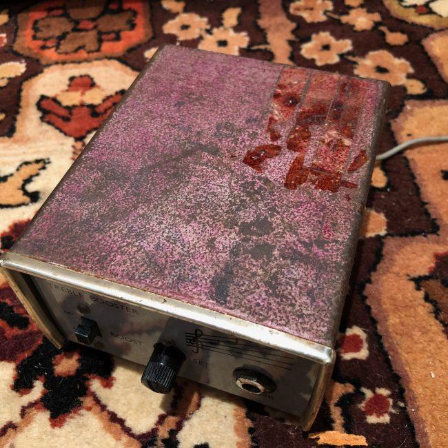 vintage 1960s dallas rangemaster treble booster mullard oc44 guitar pedal. Black Bedroom Furniture Sets. Home Design Ideas