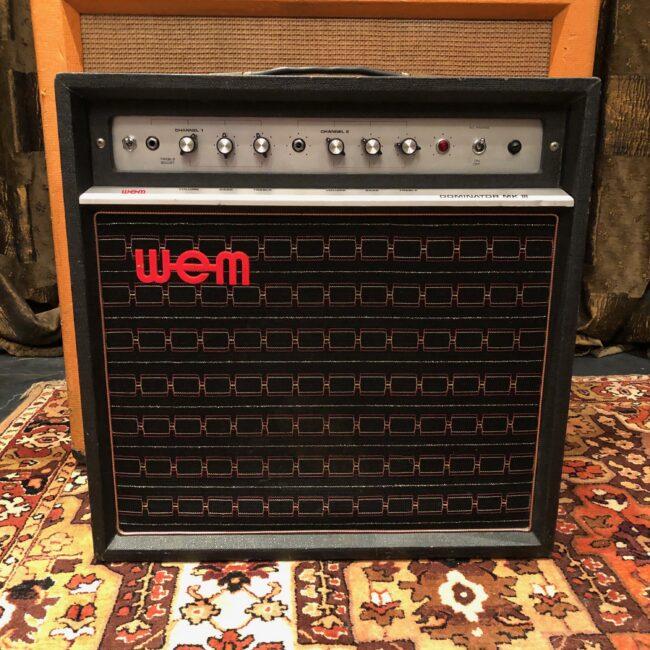 Vintage 1970s WEM Watkins Dominator MKIII 1x12 Valve Amplifier Combo