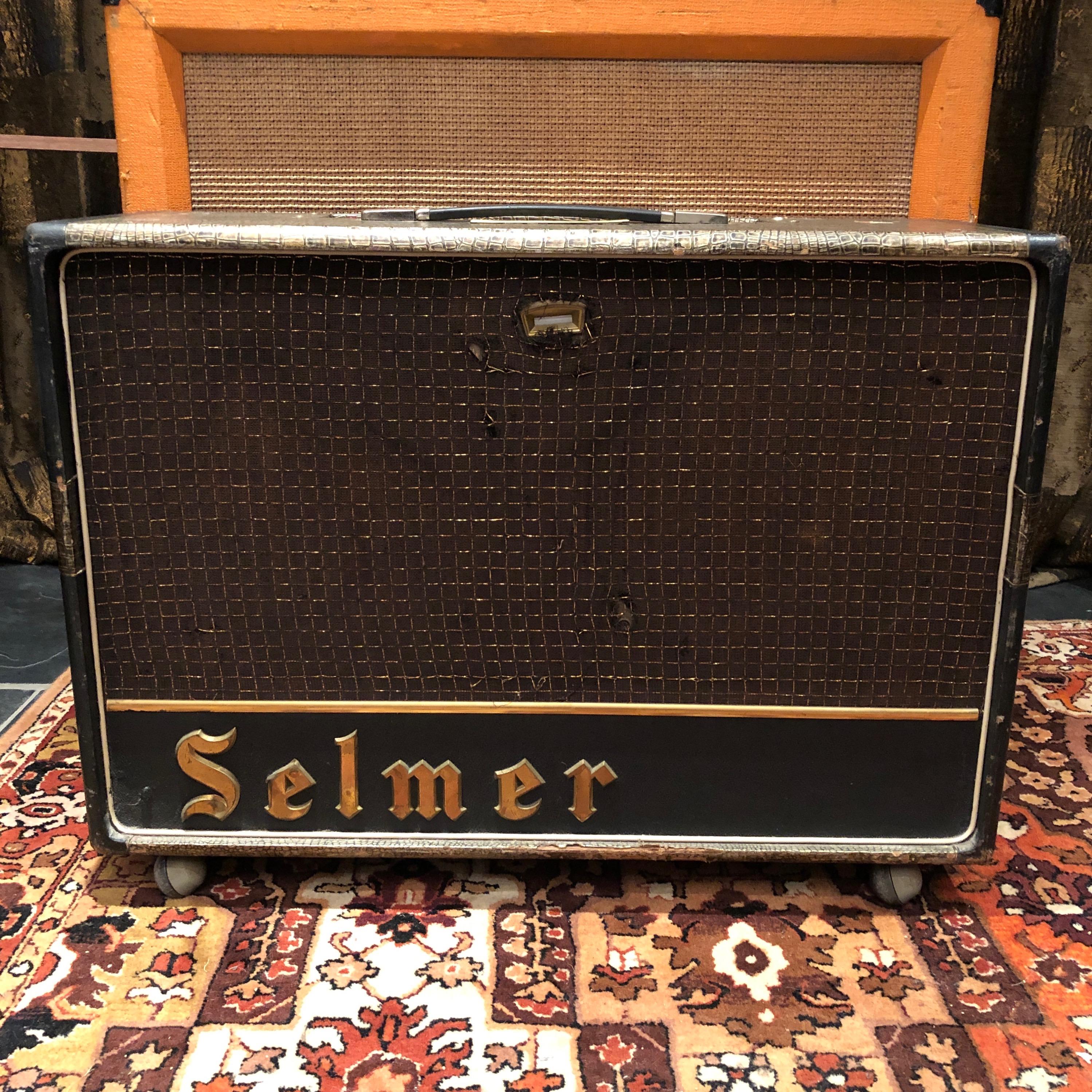 Vintage 1964 Selmer Truvoice Twin Fifty 50 Zodiac Amplifier -
