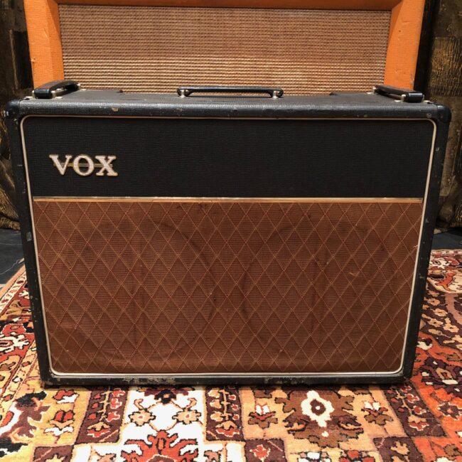 Vintage 1964 Vox AC15 Twin 2x12 Black JMI Amplifier Combo