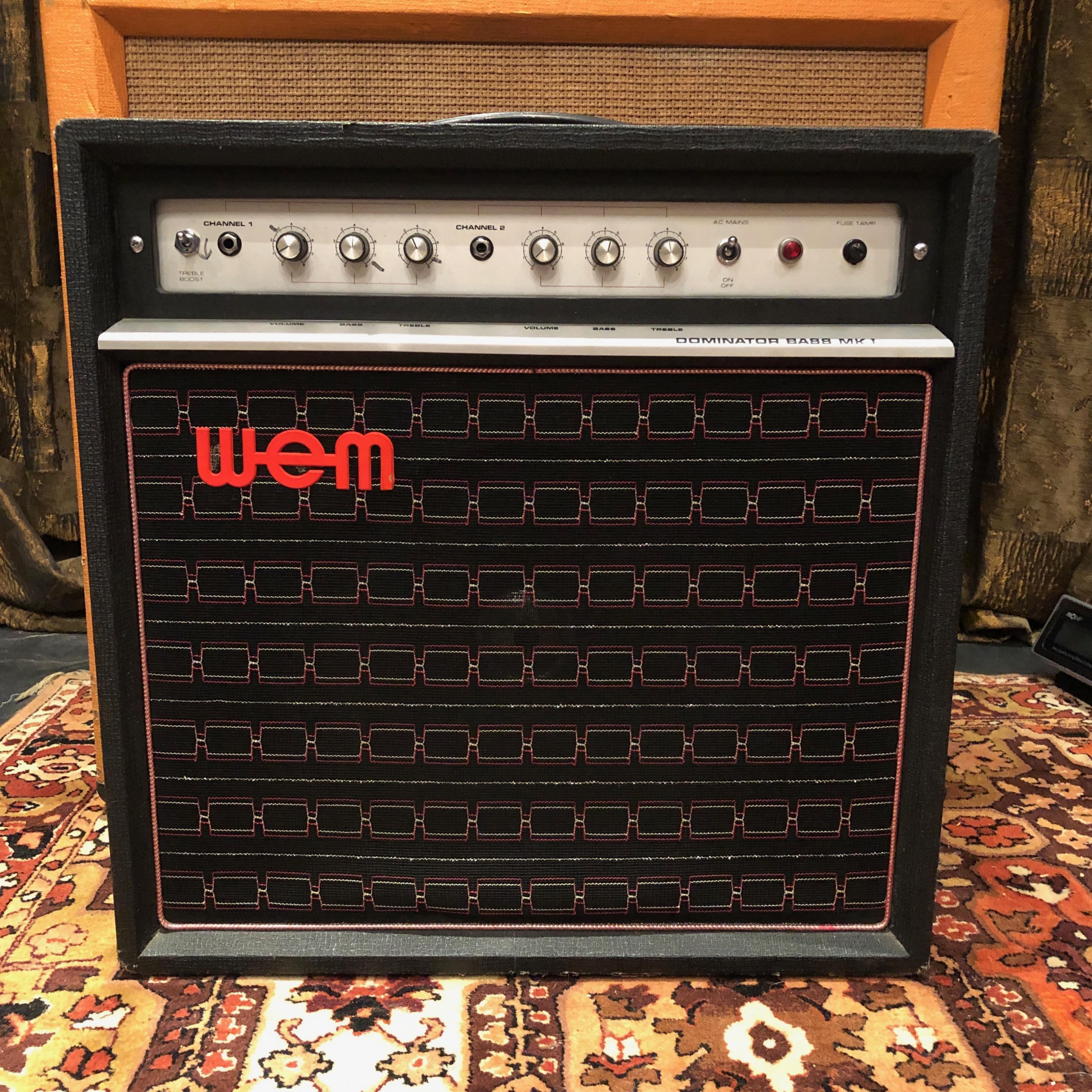 Vintage 1970s WEM Watkins Dominator Bass MKI 1x15 Valve Amplifier